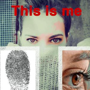 Girl's biometrics: fingerprint and iris