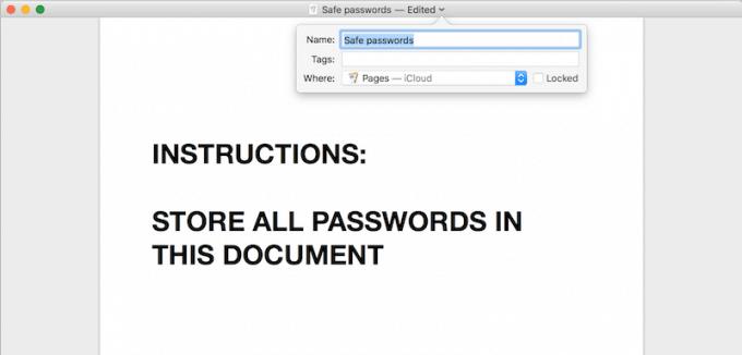 Encrypted document
