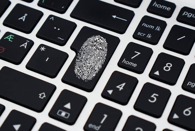 Biometrics fingerprint used to login