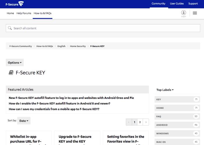 F-Secure KEY's Forums