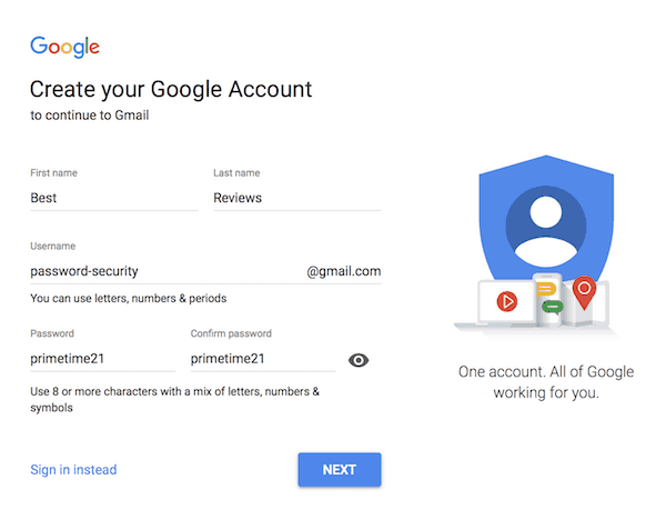 Google password meter check