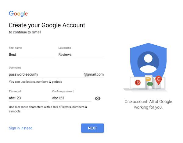 Google password meter test