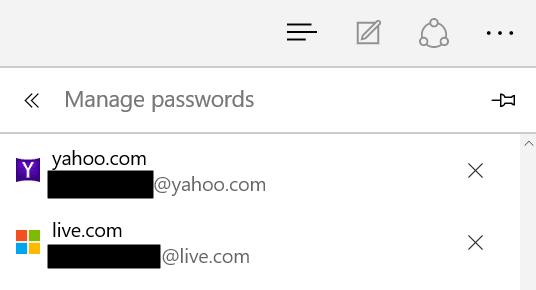 Microsoft Edge's Password Vault