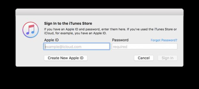 Mac iTunes Store prompt