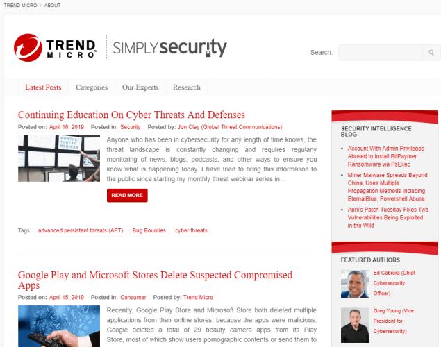Trend Micro's Blog